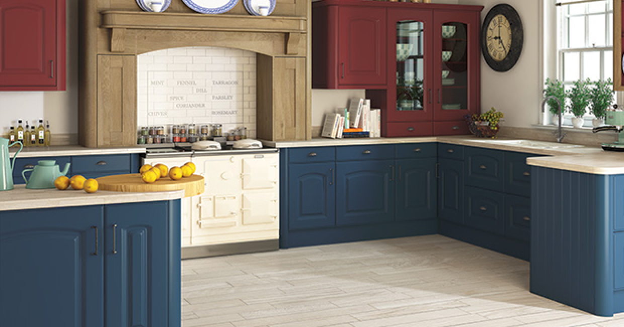 The impressive Verona Paintable kitchen doors from BA Components Bella range.