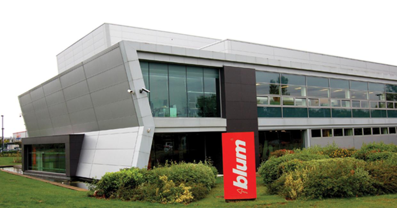 The impressive Blum distribution centre in Milton Keynes