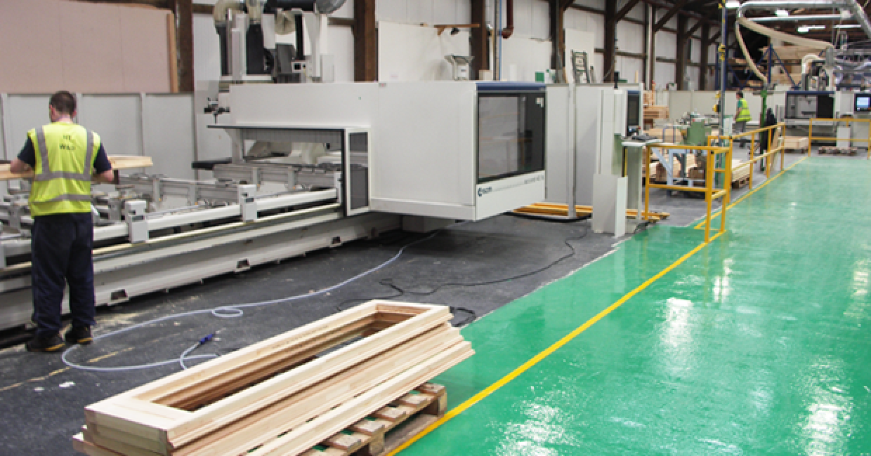 SCM Accord 20FX and Accord 40FX CNC machining centres at Howarth Windows & Doors