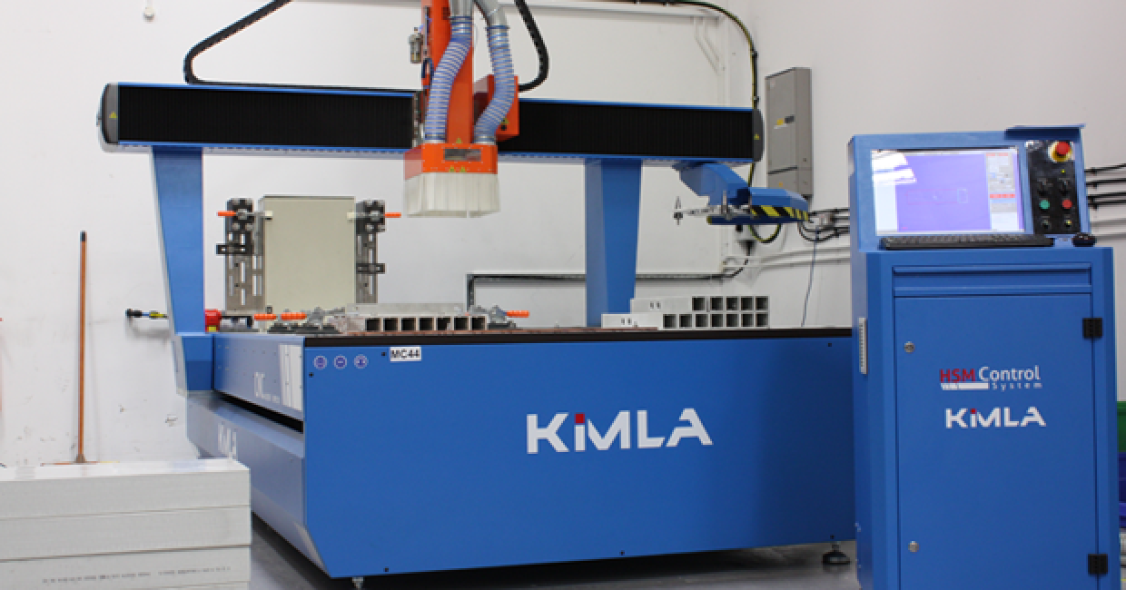 Kimla BPF2131 four-axis CNC installed by Daltons Wadkin at iLECSYS
