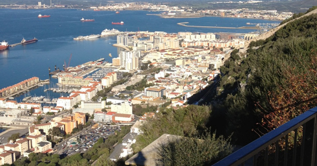 View of Gibraltar from the Rock