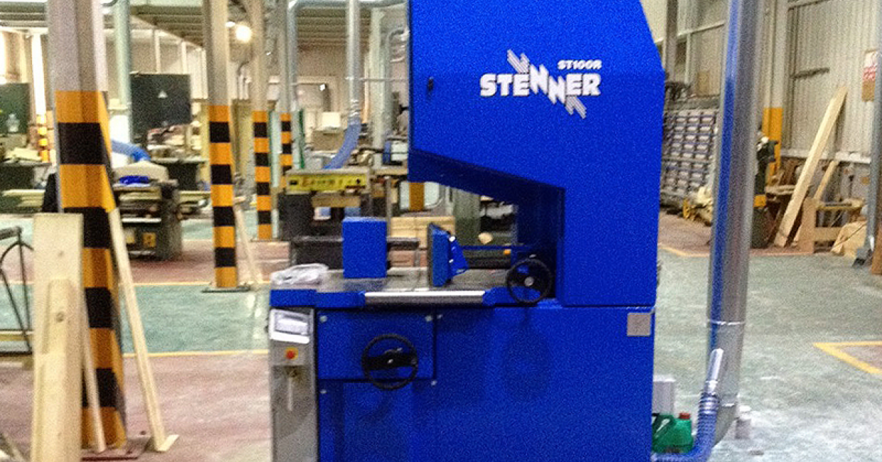 Stenner 100R Resaw installed by Daltons Wadkin at the Gibraltar Joinery workshops