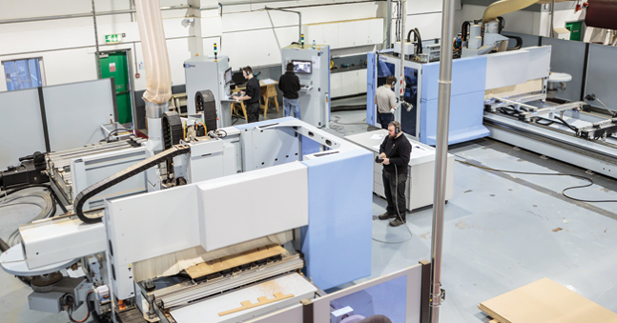 The new HOMAG BMG 511 and 512 CNC machines are the jewels in Specialist Joinery's crown (L to R)