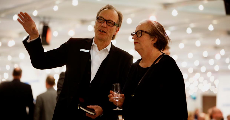 ZOW organiser Horst Rudolph with Trend expert Lidewij Edelkoort