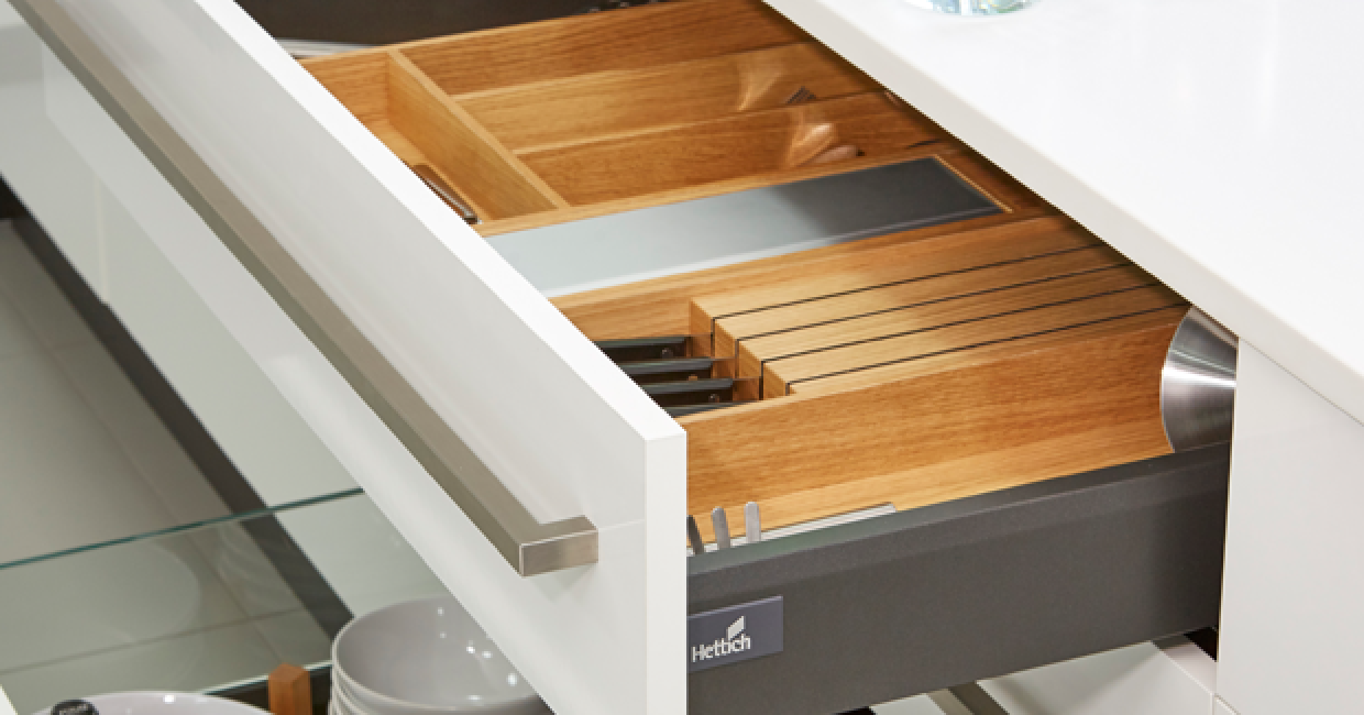 The ArciTech drawer system is now also available in oak