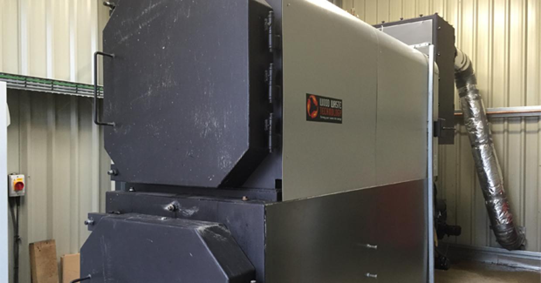 Wood Waste Technology boiler at Bill Ceyndert & Co