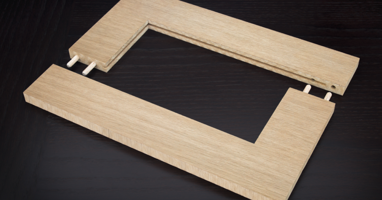Shaker door with dowel joints using a Spring machine
