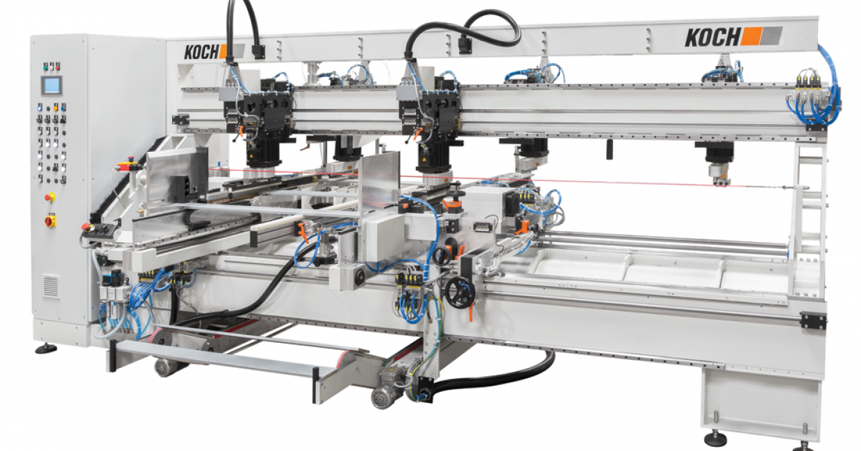 BD-Smart is a drilling machine for six-sided processing of straight and rectangular workpieces