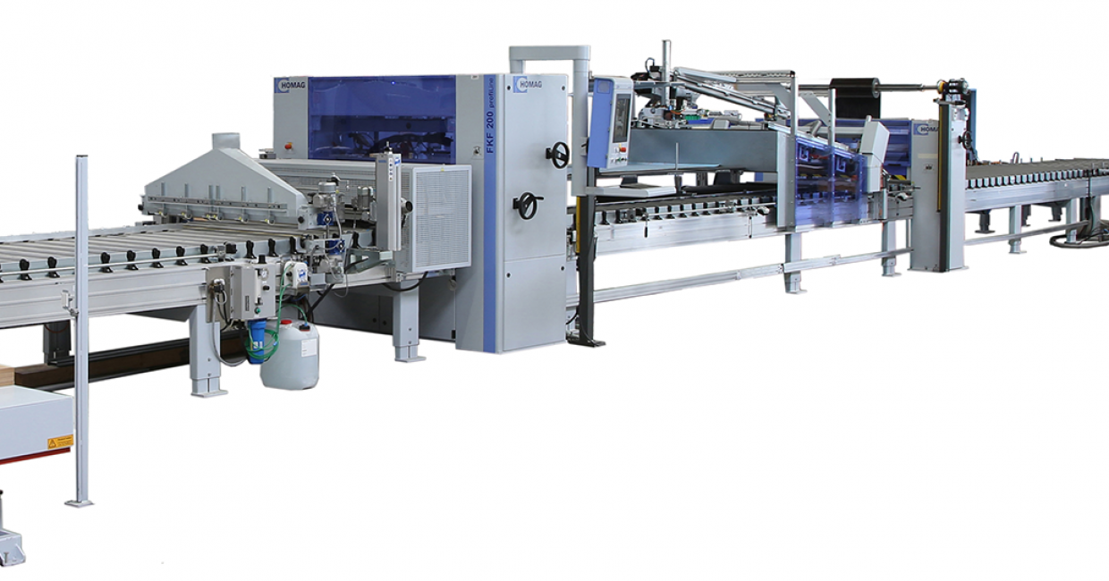 completeLine surface lamination with the new Homag FKF 200 series