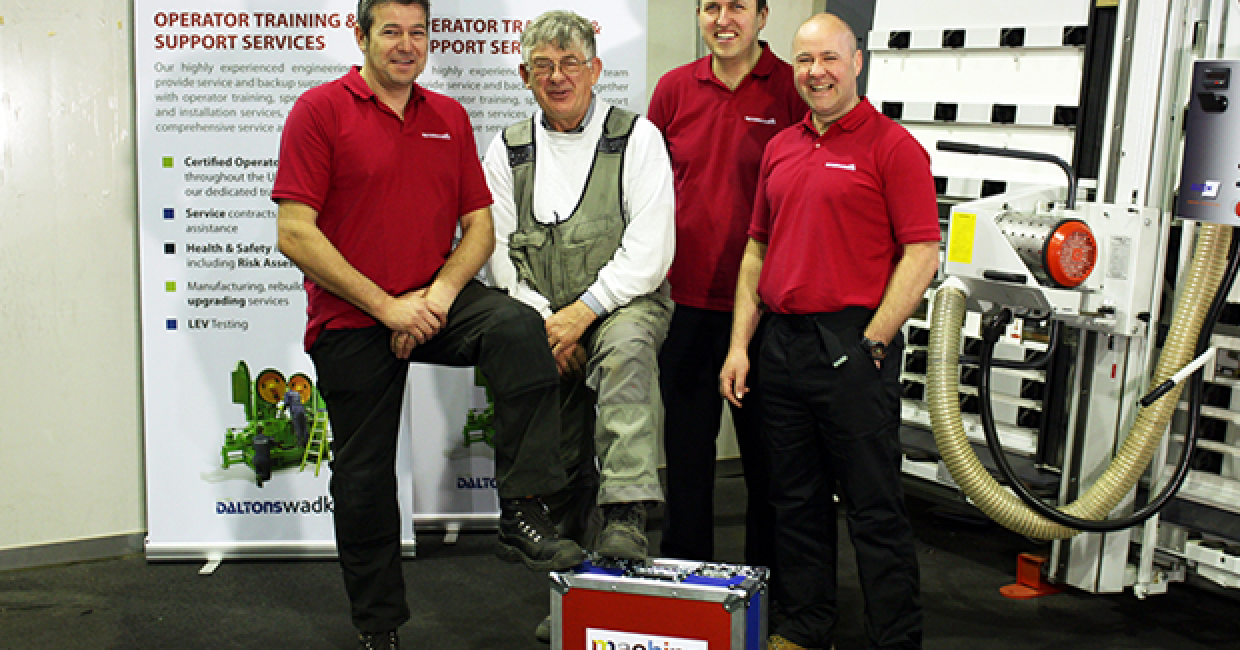 John Gubb and the Daltons Wadkin trainers – left to right: Justin Reynolds, Damian Smith and Barry Eayres