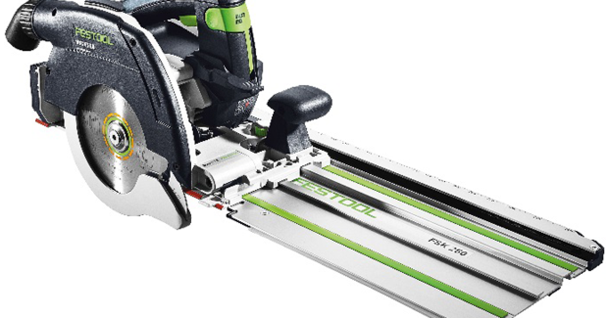 Festool's new 18v unplugged HKC 55 mitre saw system