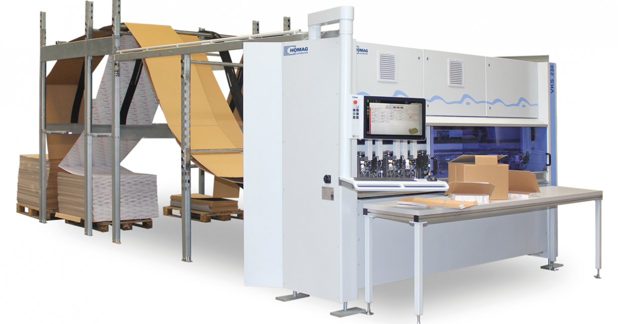 Homag VKS 230 – minimise packaging costs whilst maximising product protection