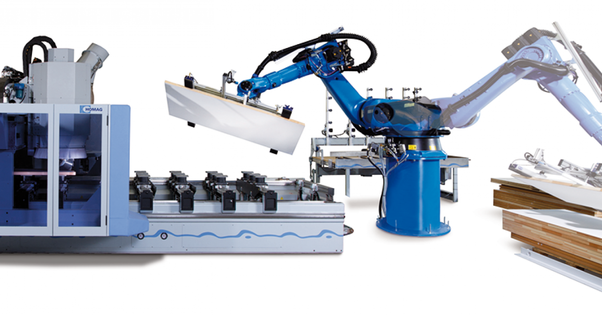 Homag's Venture BMG 300 series – flagship model with robot automation