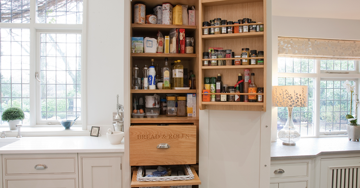 The 2D drawing page proved particularly useful during the design of this unique larder cabinet