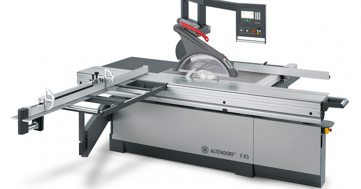 The new Altendorf F45 sliding table saw – now available from Daltons Wadkin