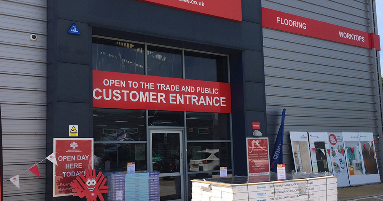 The IDS showroom at Southampton, one of the sites of IDS's successful customer open days, which led to an increase in footfall of up to 50% during the event