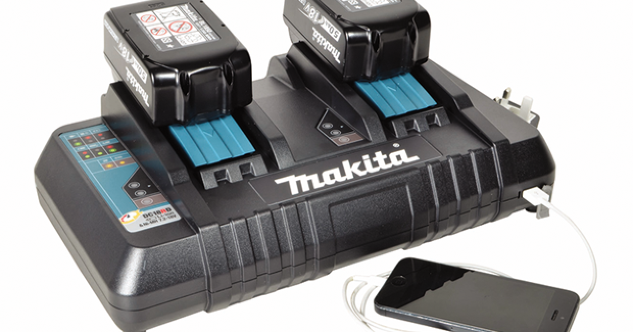 Makita's DC18RD twin-port charger