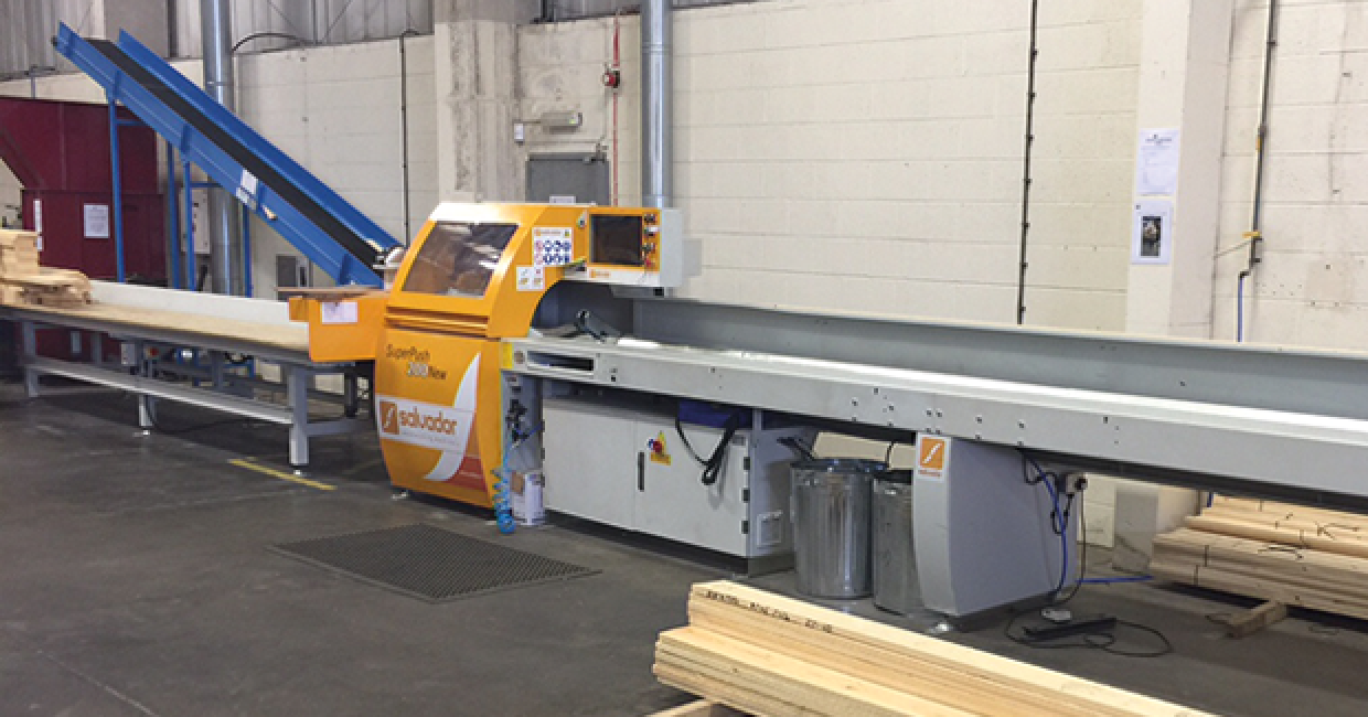 Daltons Wadkin installs a Salvador S200 Superpush with 6000mm infeed tables at AJB Group