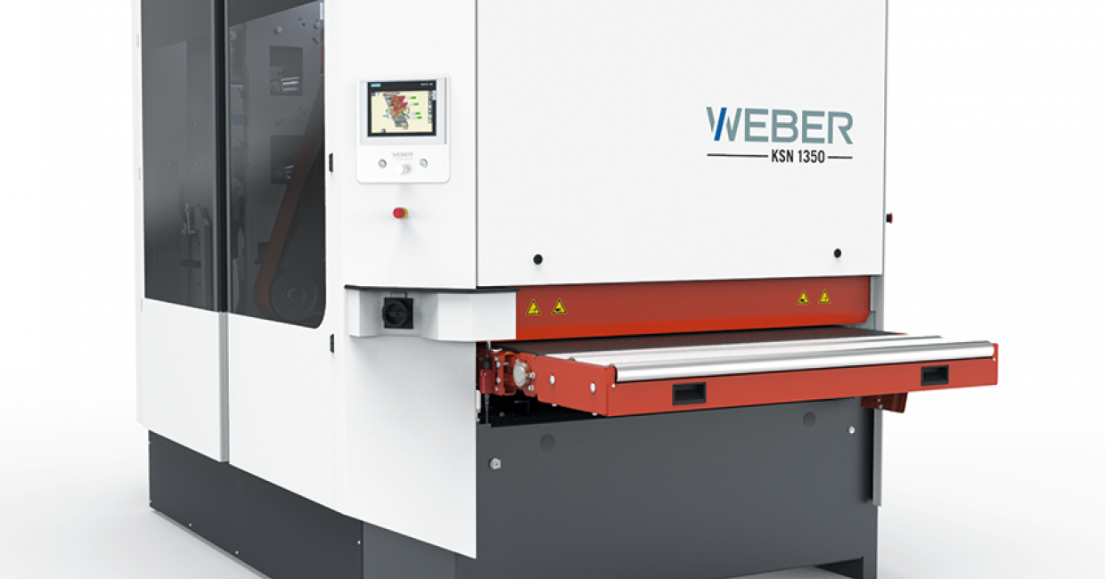 The Weber KSN-4-1350 wide-belt sander