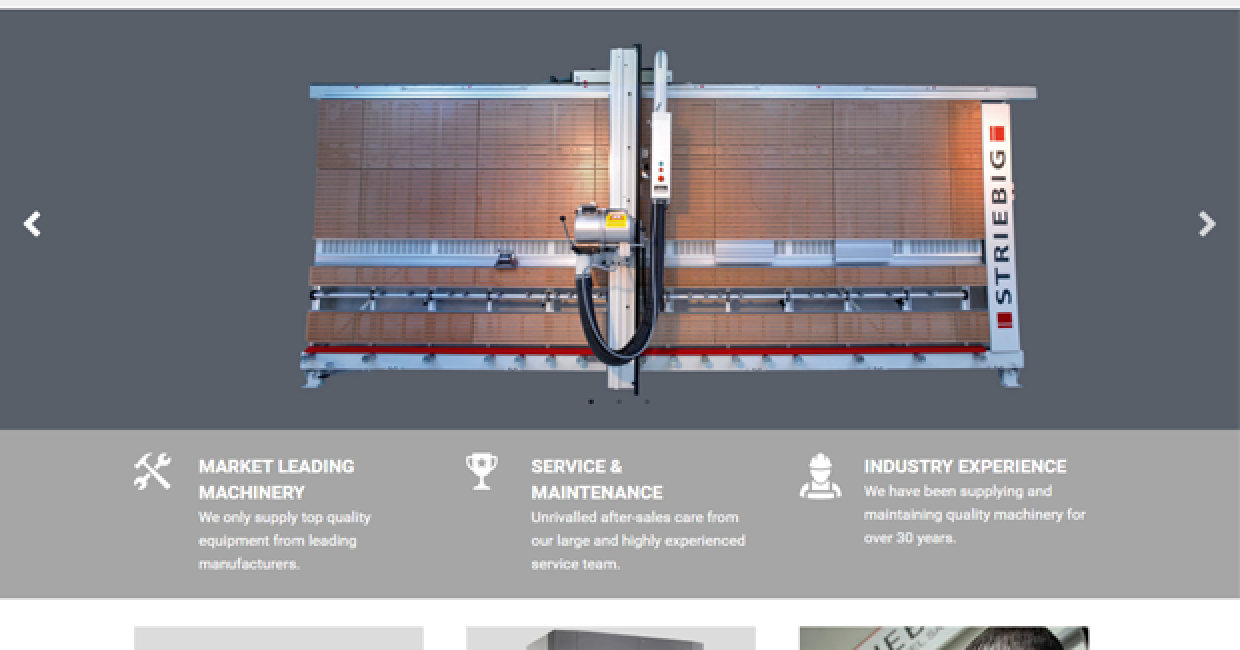 One of the easy-to-read pages from TM Machinery's new website