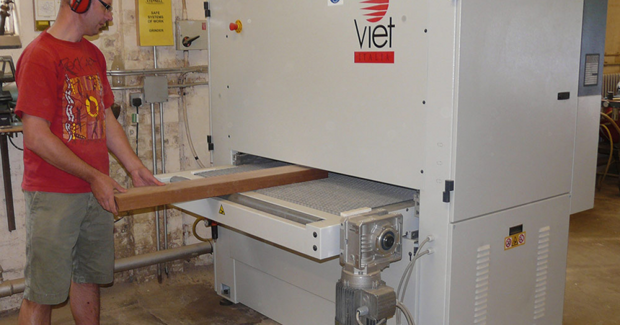 The Viet S211 twin-belt sander bought for the joinery at Rugby-based Stepnell