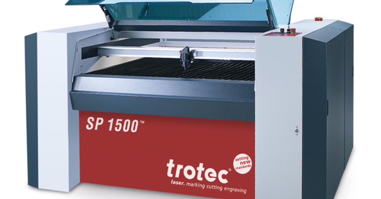 Trotec's SP1500 large format laser cutter