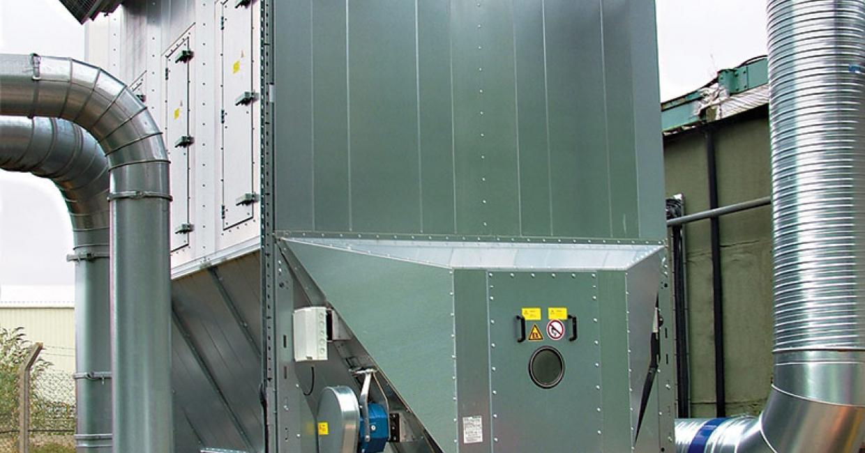 DCS modular filter has an airflow capacity of 23,000 cubic m/hr
