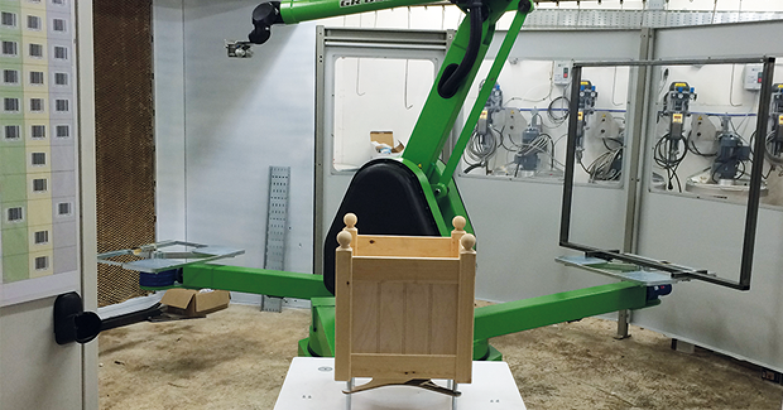 AFK Garden Furniture's three station carousel robot from CMA Robotics