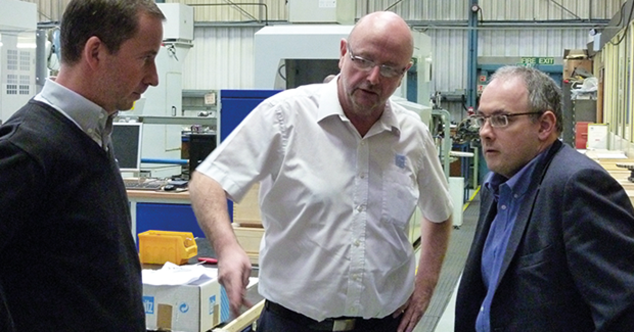 MP Robert Halfon (right) at Leitz Tooling in Harlow