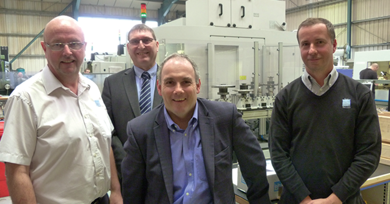 MP Robert Halfon (centre) at Leitz Tooling in Harlow