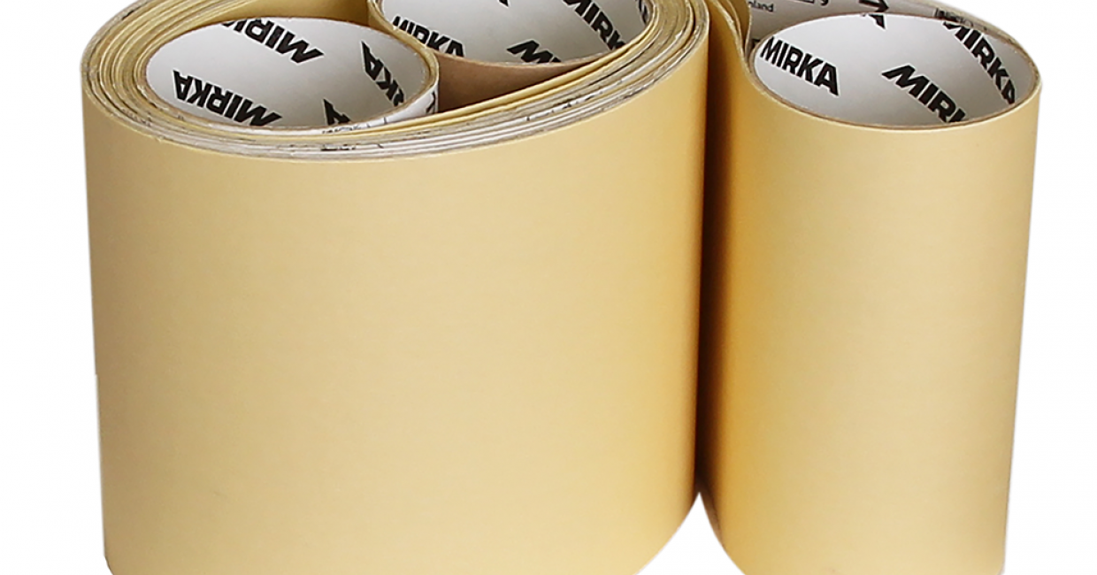 Gold Max is available in rolls, narrow and wide belts and has a grit range of P320-P800