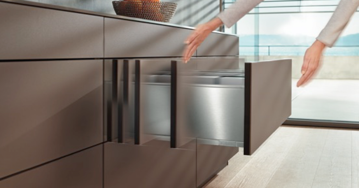 Blum's tried and tested soft-close, Blumotion