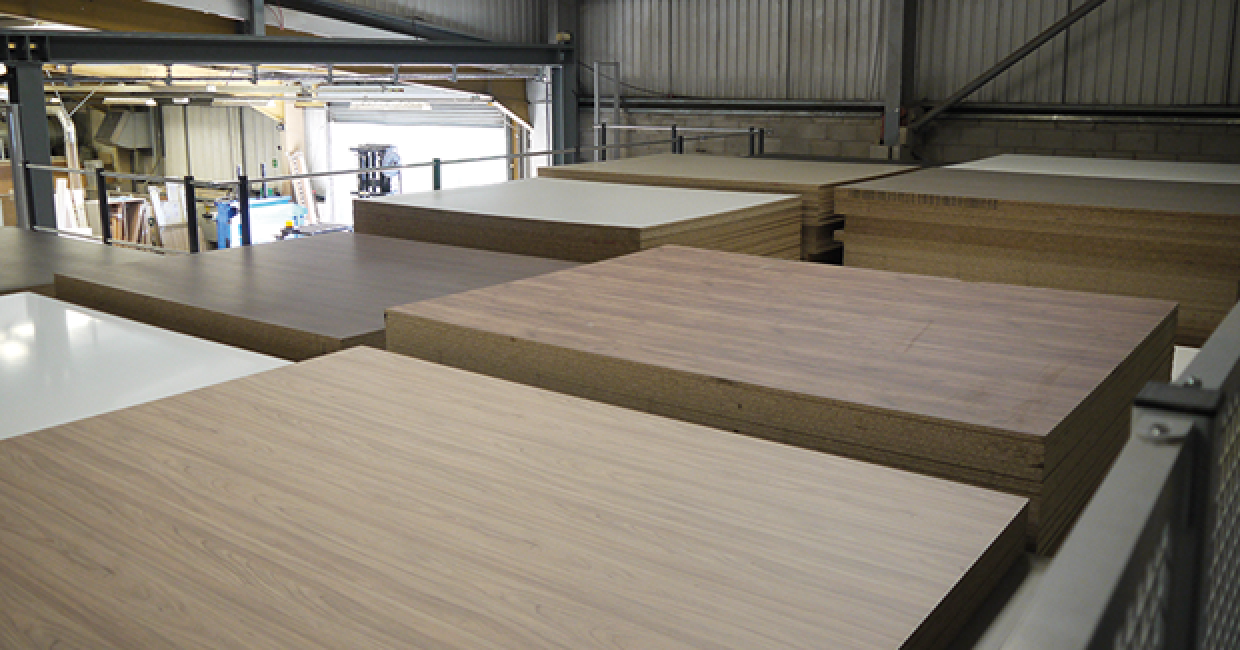 Panorama Kitchens' new Schelling fh4 cut-to-size saw and VS12 board storage system