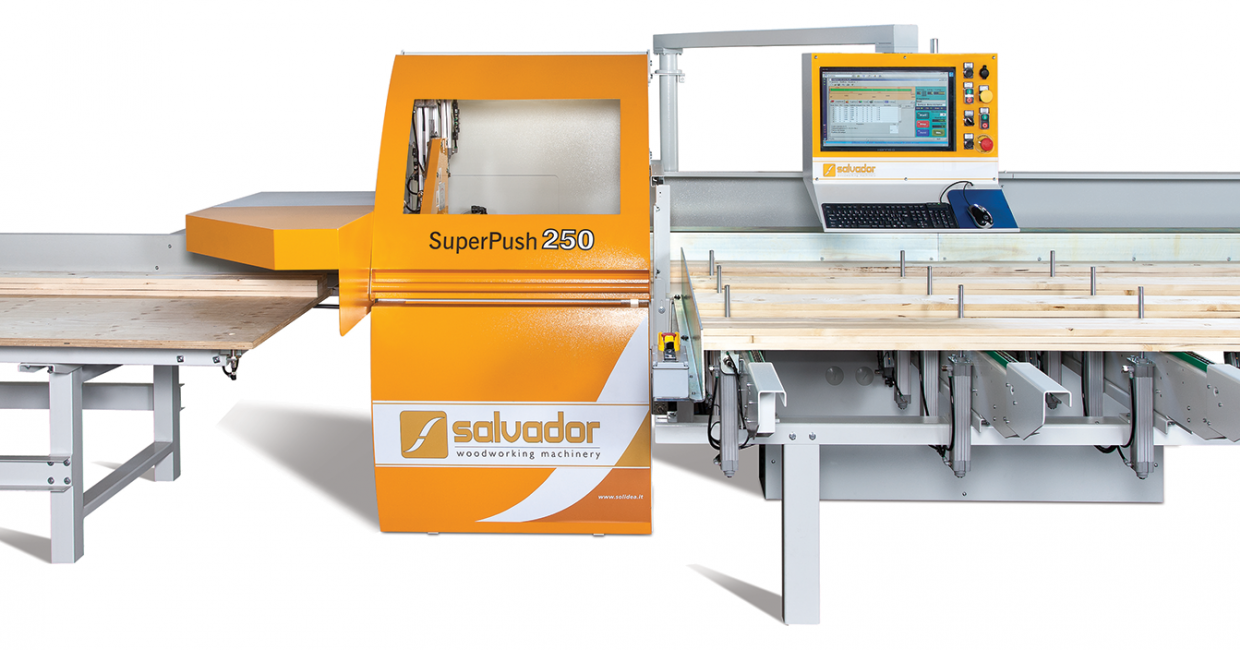 Salvador SuperPush 250 with automatic chain infeed, from UK and Ireland distributor Daltons Wadkin