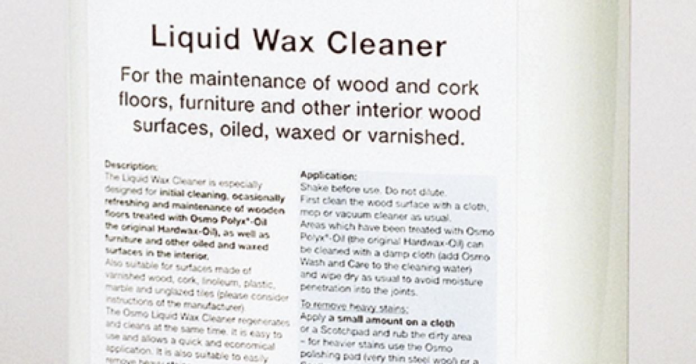 Osmo's Liquid Wax Cleaner