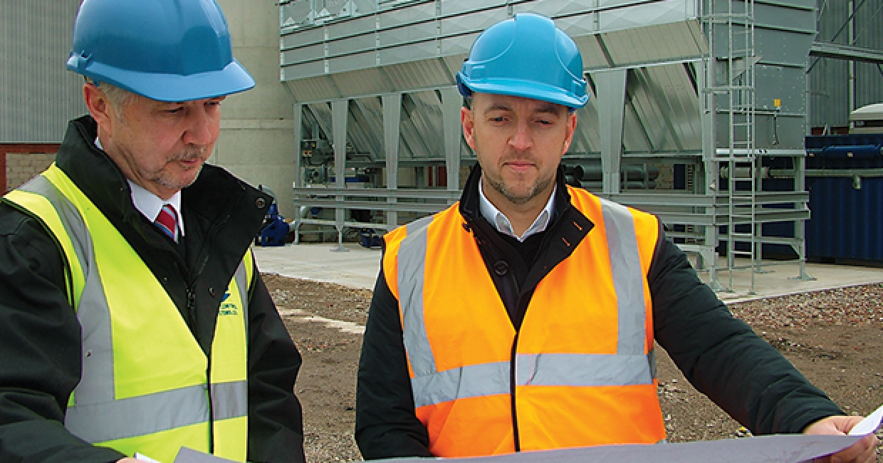 Melvyn Bathgate and Phil Darbyshire at Starbank's impressive new filter unit
