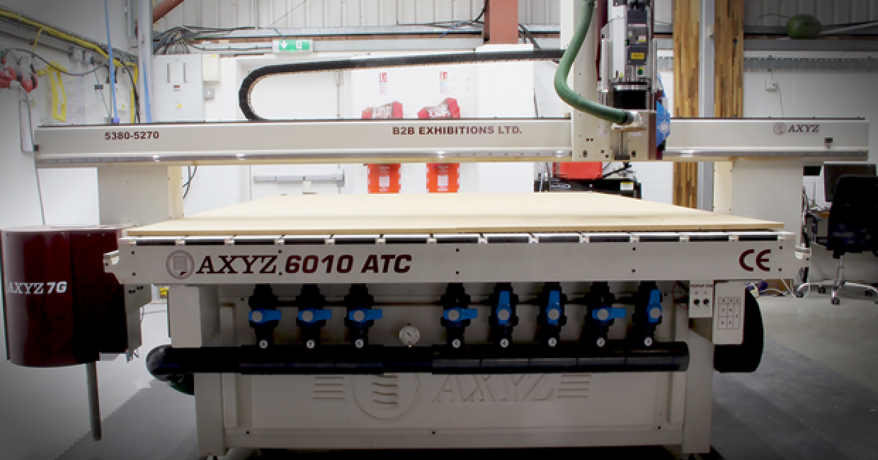 The AXYZ 6010 CNC router at B2B Exhibitions