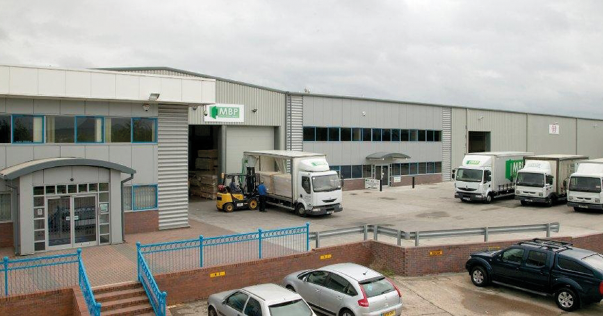 Midland Building Products premises being heated by a Talbotts MWE999 RHI compliant biomass boiler solution