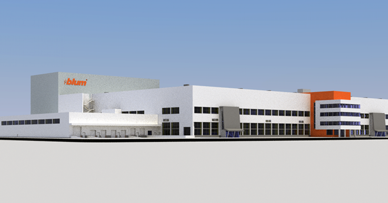 Close to the existing plant seven in Dornbirn, construction work for the new stamping centre – the future plant eight – kicked off in January this year