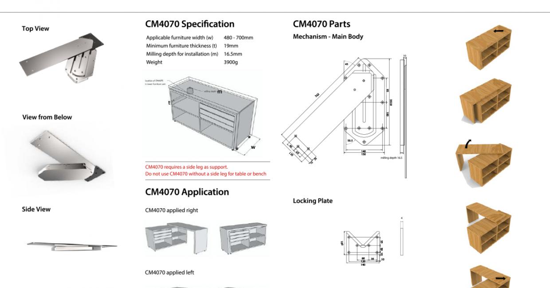 Casetur's CM4070 mechanism