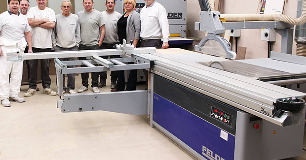 David and the team beside its highly accurate K940S sliding table saw