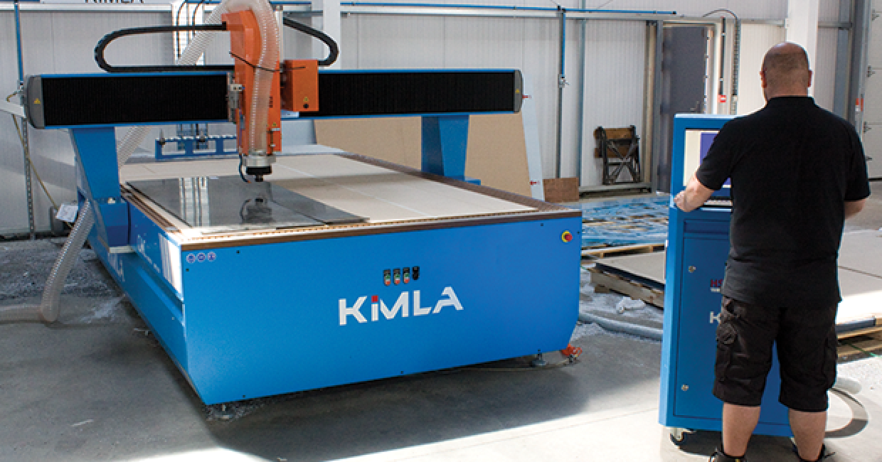 Kimla BPF CNC router installed by Daltons Wadkin at Redco