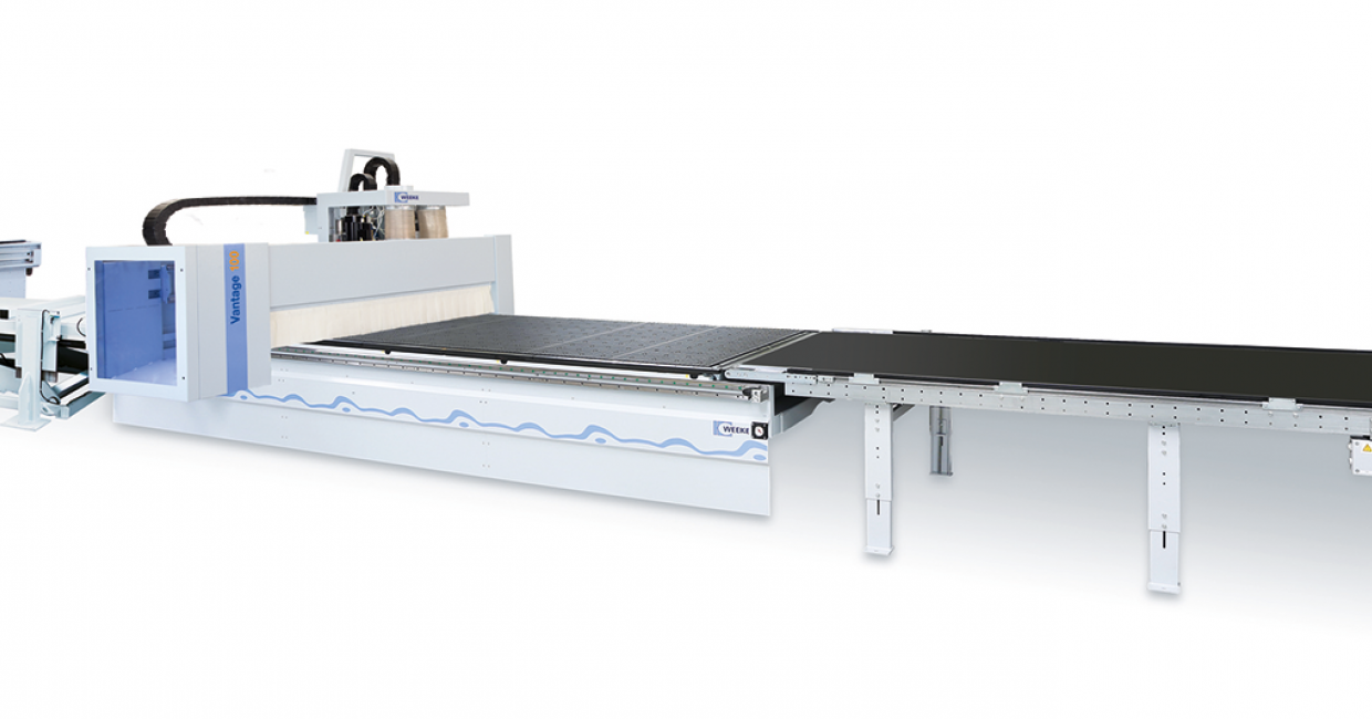 The Weeke Vantage 100 gantry CNC nesting machine - fast efficient production
