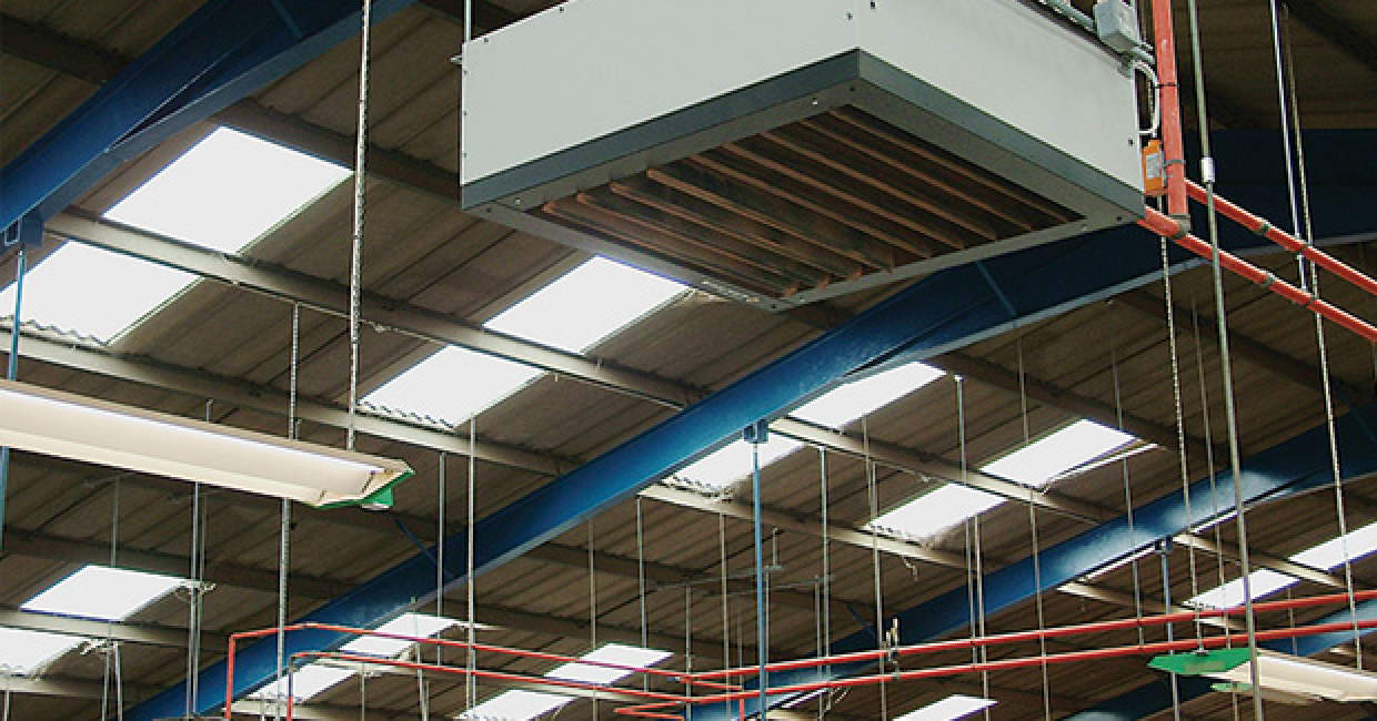 Six heat exchangers ensure a consistent working temperature throughout the factory