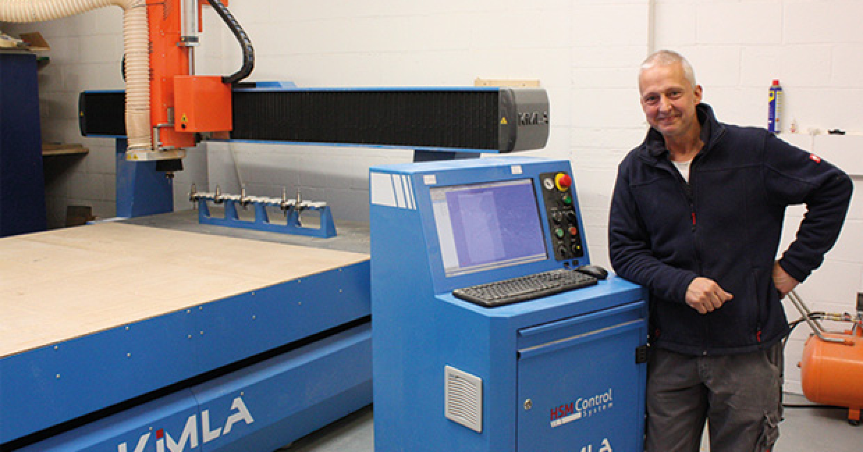 Tim McKye with the Kimla BPF2131 CNC router