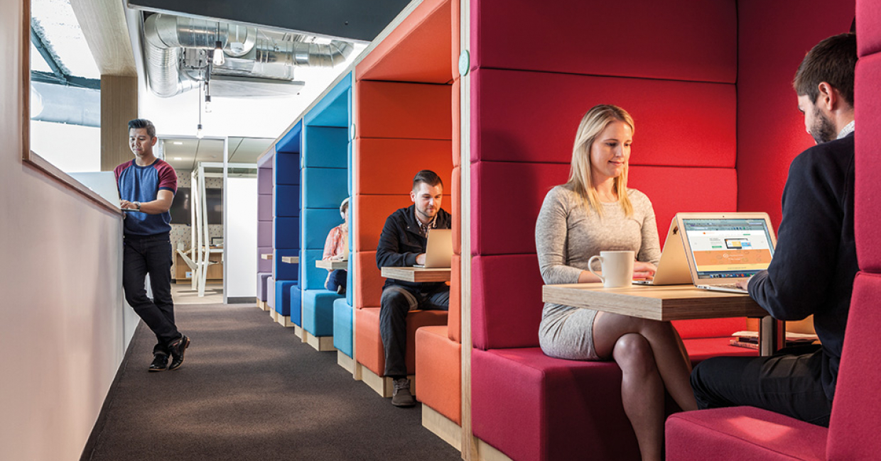 Today's office furniture is designed to maximise employee engagement
