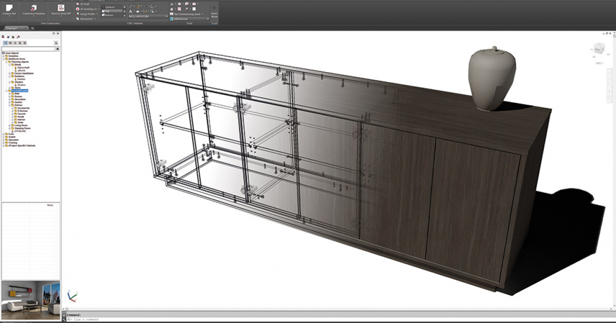 Cabinet creation through Imos' software