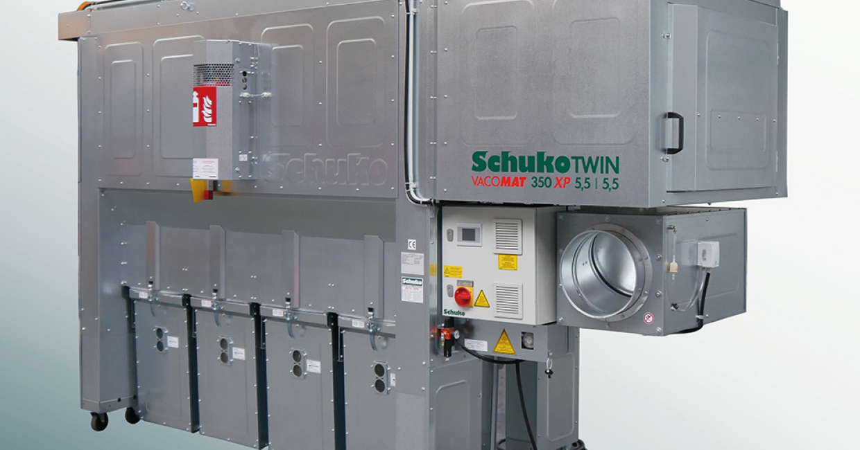 Schuko's new Vacomat 350 XP TWIN – the first time on display in the UK at W16