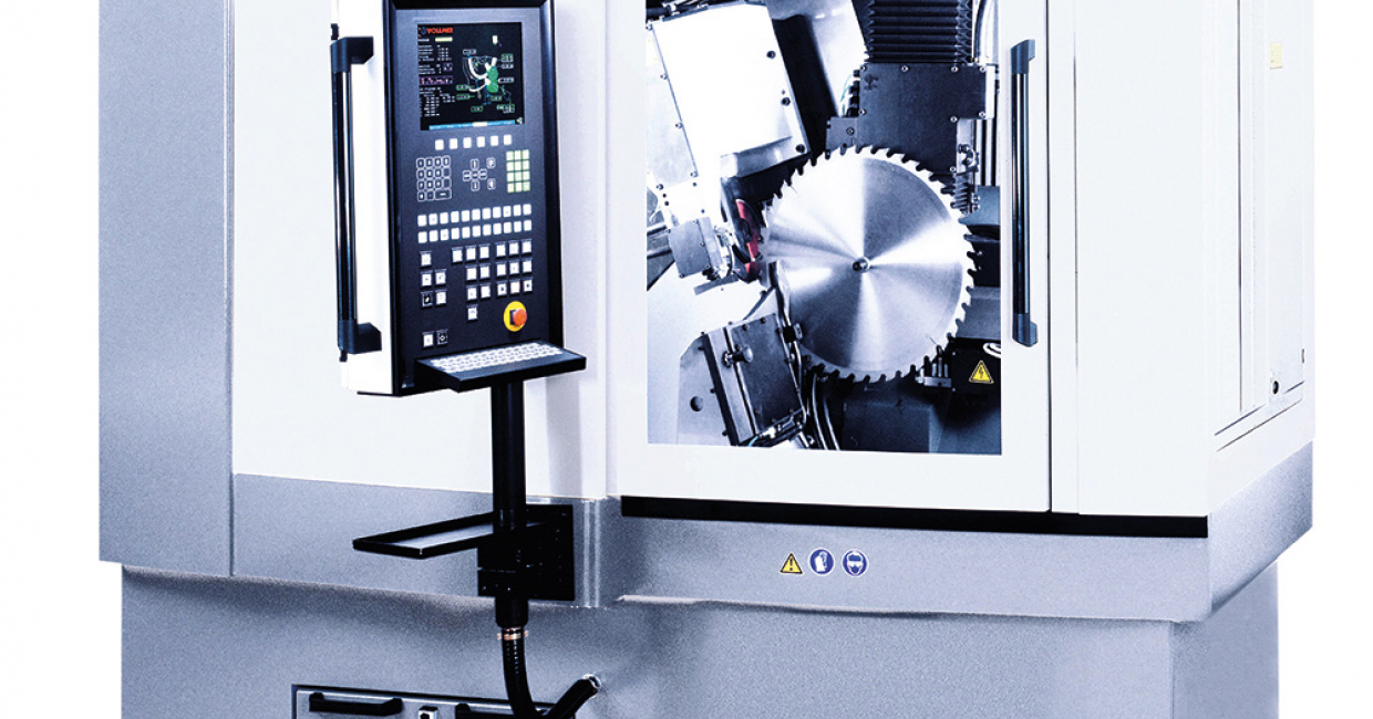 The CHD 270 sharpening machine allows for saw sharpening precision