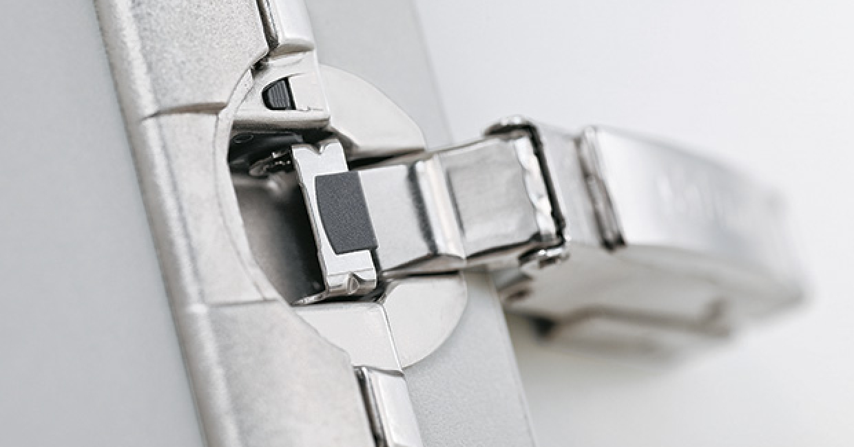 Blum's Clip top hinge allows for a soft-close mechanism